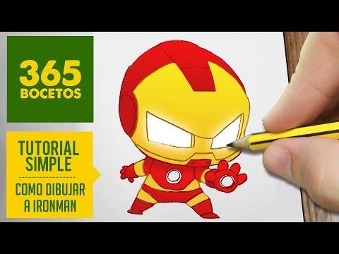 Como dibujar a mini Ironman