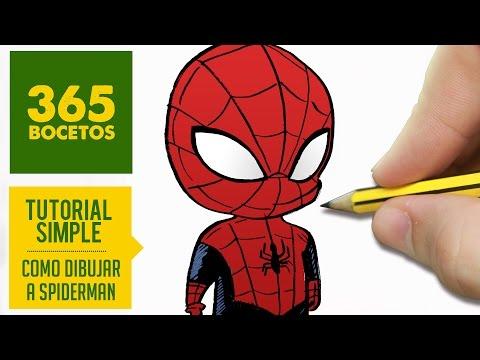 Como dibujar a mini Spiderman