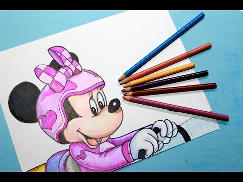 Como dibujar a Minnie Mouse de Mickey: Aventuras sobre Ruedas
