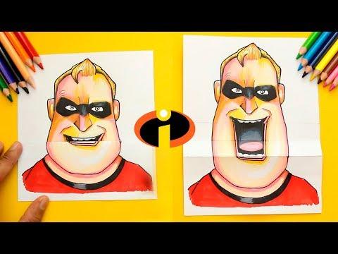 Como dibujar a Mr. Increíble de Pixar