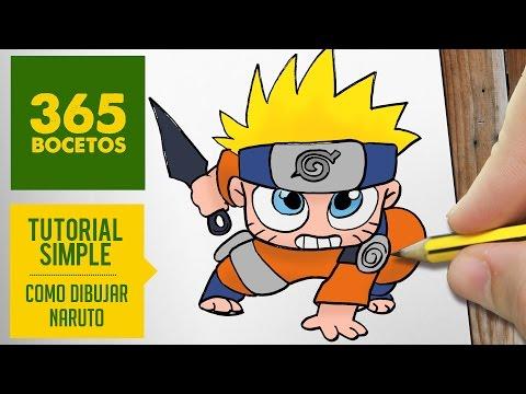 Como dibujar a Naruto kawaii