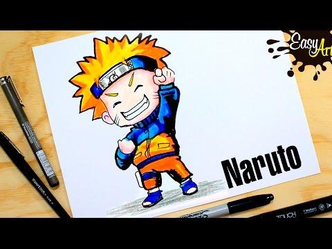 Como dibujar a Naruto paso a paso