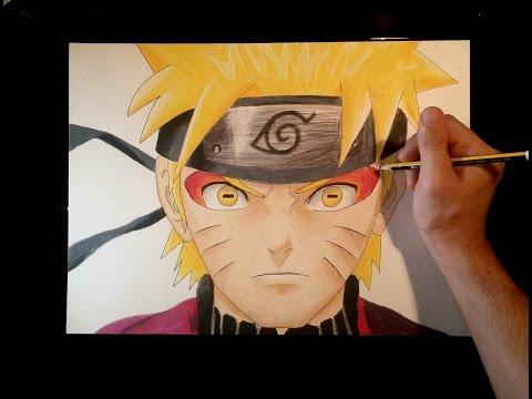 Como dibujar a Naruto sabio