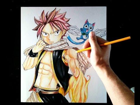 Como dibujar a Natsu & Happy de Fairy Tail