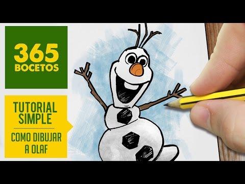 Como dibujar a Olaf de  Frozen