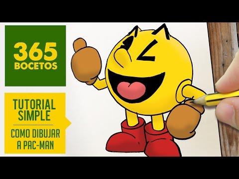 Como dibujar a Pac-Man sonriente