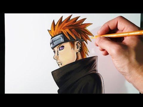 Como dibujar a Pain de Naruto