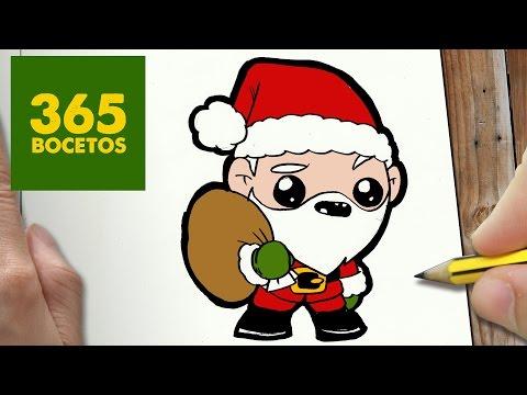 Dibujos de navidad con papa noel