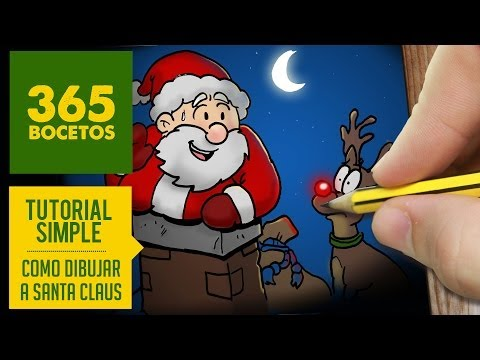 Como dibujar a Papá Noel