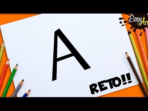 Como dibujar a partir de la letra A fácil