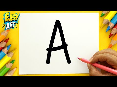 Como dibujar a partir de la letra A paso a paso