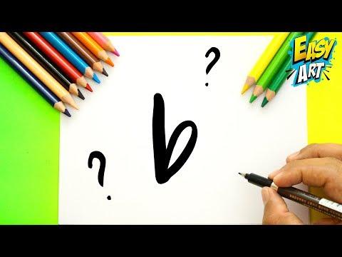Como dibujar a partir de la letra B fácil