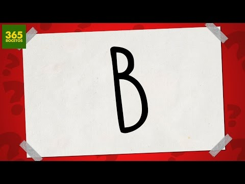 Como dibujar a partir de la letra B