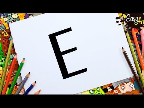Como dibujar a partir de la letra E fácil