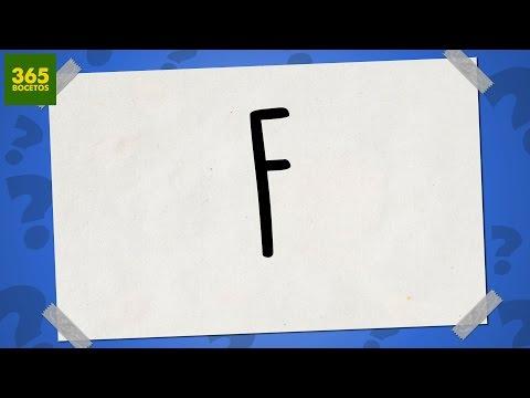 Como dibujar a partir de la letra F