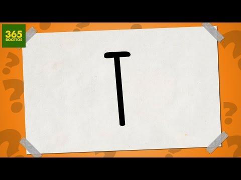 Como dibujar a partir de la letra T