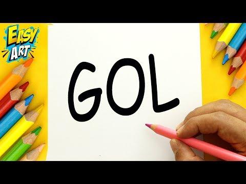 Como dibujar a partir de la palabra Gol