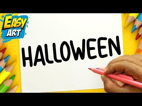 Como dibujar a partir de la palabra Halloween