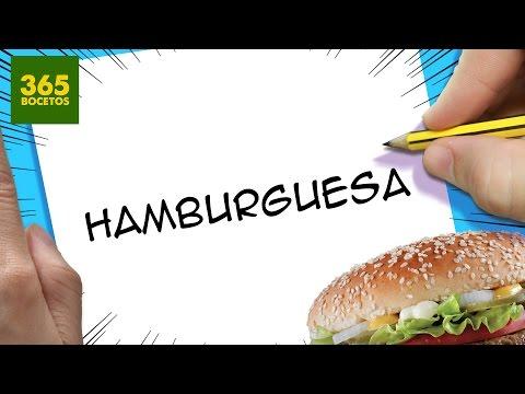 Como dibujar a partir de la palabra Hamburguesa