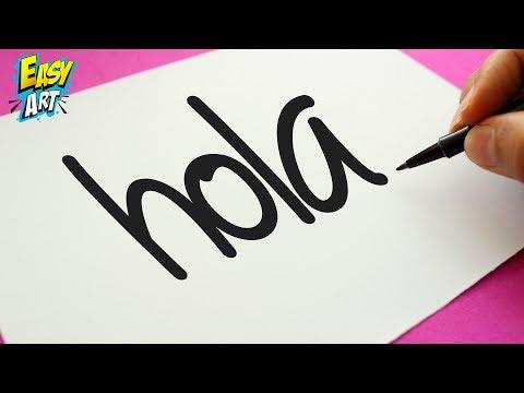 Como dibujar a partir de la palabra Hola