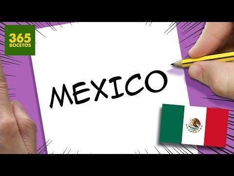 Como dibujar a partir de la palabra Mexico fácil