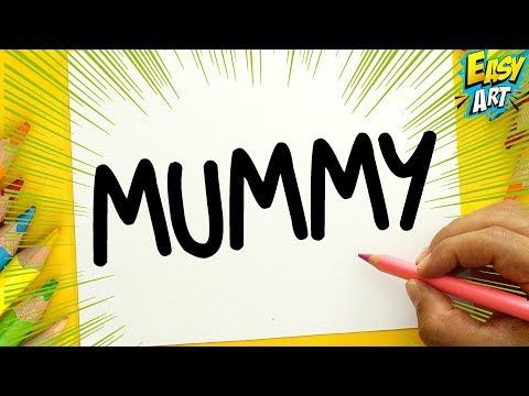 Como dibujar a partir de la palabra Momia para Halloween