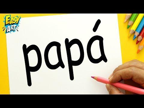 Como dibujar a partir de la palabra Papa