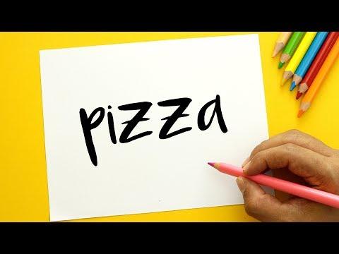 Como dibujar a partir de la palabra Pizza
