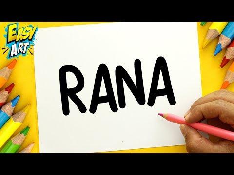 Como dibujar a partir de la palabra Rana