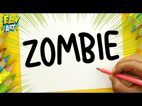 Como dibujar a partir de la palabra Zombie