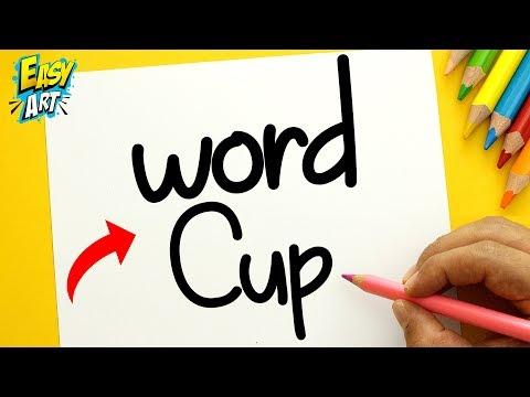 Como dibujar a partir de las palabras World Cup
