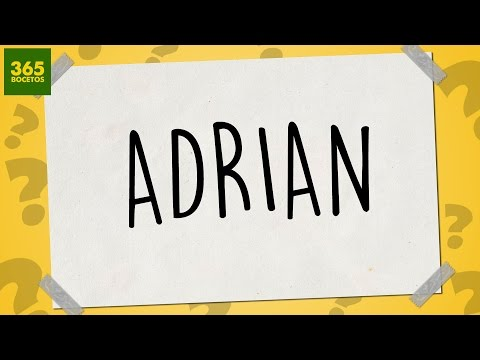 Como dibujar a partir del nombre Adrián