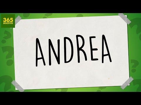 Como dibujar a partir del nombre Andrea