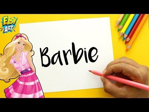 Como dibujar a partir del nombre Barbie