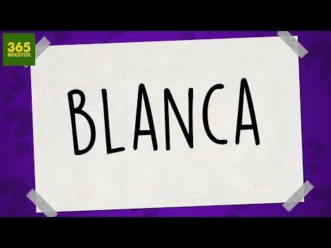 Como dibujar a partir del nombre Blanca