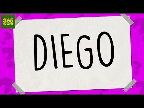 Como dibujar a partir del nombre Diego