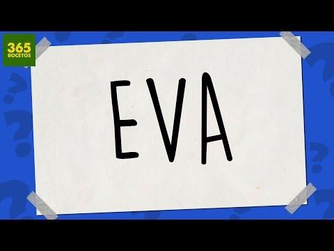 Como dibujar a partir del nombre Eva