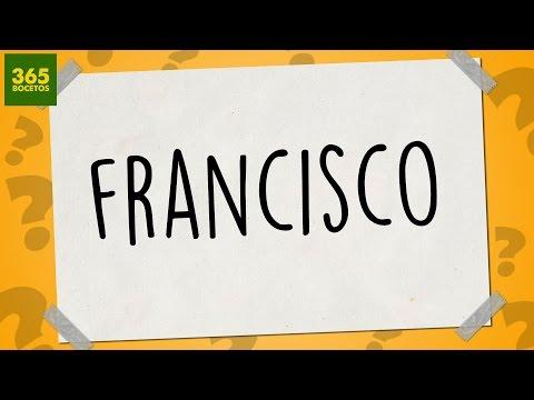 Como dibujar a partir del nombre Francisco