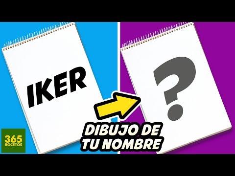 Como dibujar a partir del nombre Iker