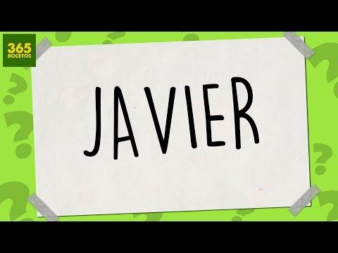 Como dibujar a partir del nombre Javier