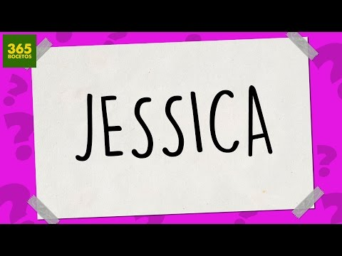 Como dibujar a partir del nombre Jessica
