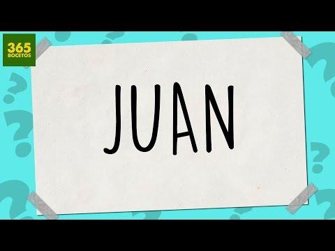 Como dibujar a partir del nombre Juan