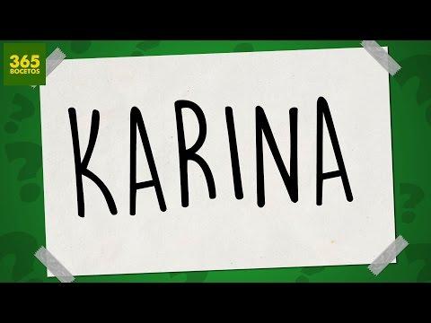 Como dibujar a partir del nombre Karina
