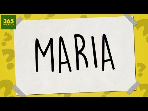 Como dibujar a partir del nombre Maria