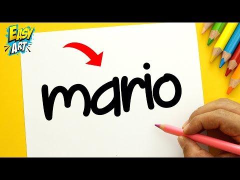 Como dibujar a partir del nombre Mario