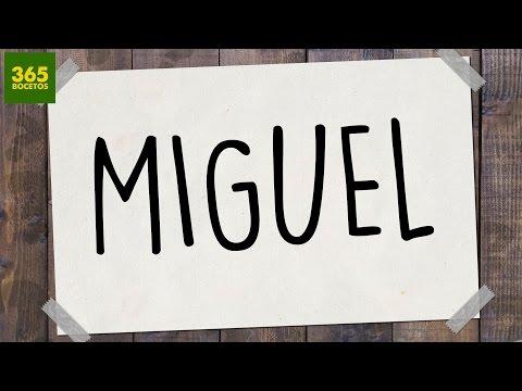 Como dibujar a partir del nombre Miguel