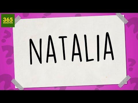 Como dibujar a partir del nombre Natalia