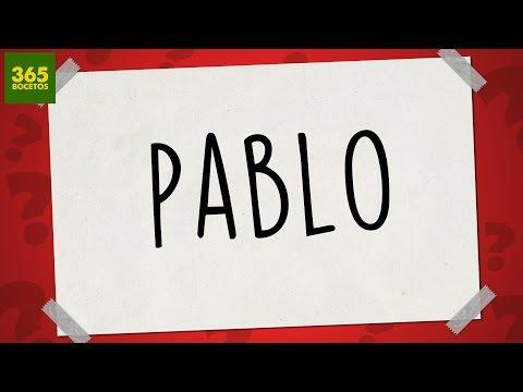 Como dibujar a partir del nombre Pablo
