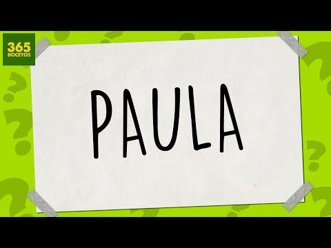 Como dibujar a partir del nombre Paula