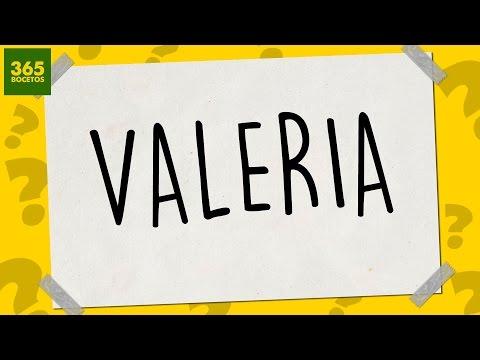 Como dibujar a partir del nombre Valeria